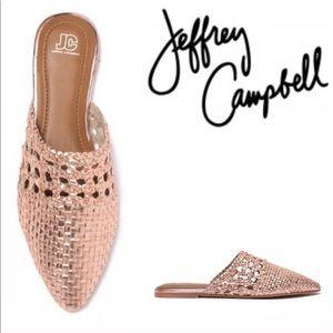 Jeffery Campbell Rose Gold Mules
